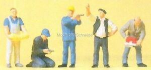 H0-Preiser-10498-Handwerker-Figuras-Emb-orig