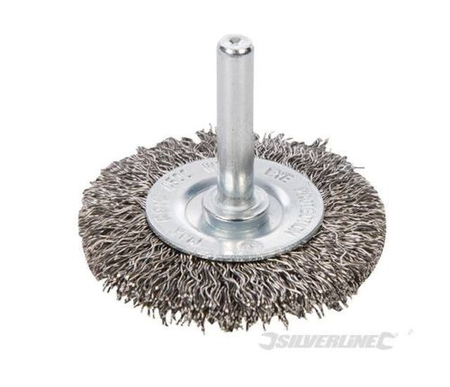 100 MM ROUE BROSSE METAL ROTATIVE FIL INOX POUR PERCEUSE TAILLE 50-75