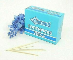 Diamond-Brand-Flat-Wood-Toothpicks-Bar-Restaurant-Party-Supplies-Oral-Care