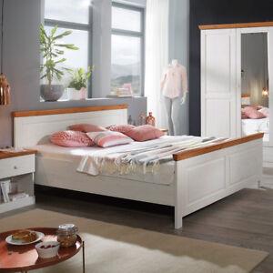 Das Bild Wird Geladen Landhausstil Bett  180x200 Genia Doppelbett Kiefer Massiv Weiss