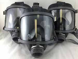 Scott/SEA Domestic Preparedness 40mm NATO NBC **Lot of 3** Gas Masks NEW