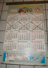 """Large 1963 Great Northern Railroad Calendar 42 1/2"""" by 26"""""""