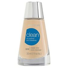 CoverGirl Clean Oil Control Liquid Makeup, Classic Ivory [510] 1 oz (Pack of 3)