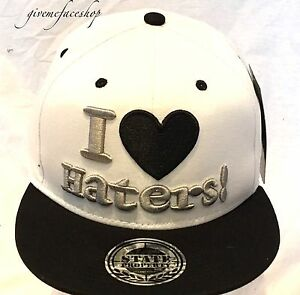 f0aed4b3183a6 Details about New I love haters snapback caps