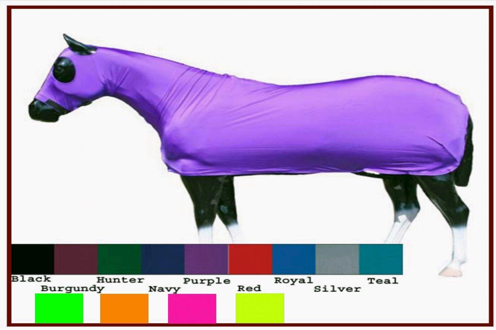 Horse Foal Cob Sleazy Sleepwear Lycra 1  Piece FULL Body Show Sheet Hood Solid  new branded