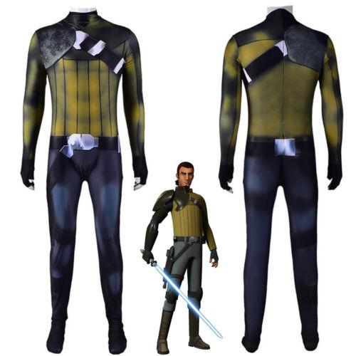 Star Wars Rebels Kanan Jarrus Cosplay Costume Bodysuit For Kids Adult