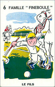 HORSE-POLO-SPORT-PLAYING-CARD-CARTE-A-JOUER-HUMOR-HUMOUR-60s