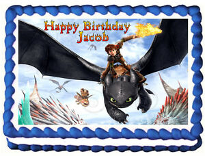 How to train your dragon toothless image edible cake topper ebay image is loading how to train your dragon toothless image edible ccuart Gallery