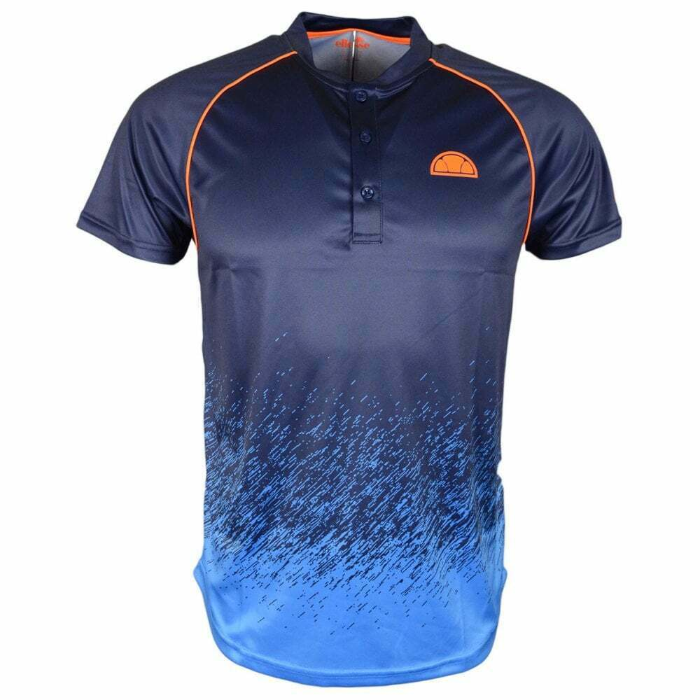 Ellesse Quadro Slim Fit Polyester Navy Polo