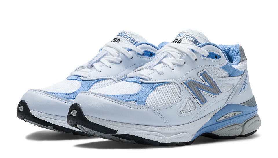 New Balance femmes  Everyday Running  Chaussures ,  blanc  with Blithe &  Gris  - W990WB3
