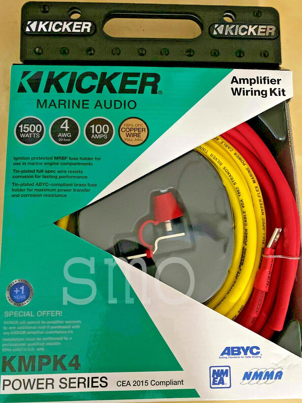 KICKER 47KMPK4 Marine 4 AWG Amplifier Wiring Kit for sale online | eBayeBay