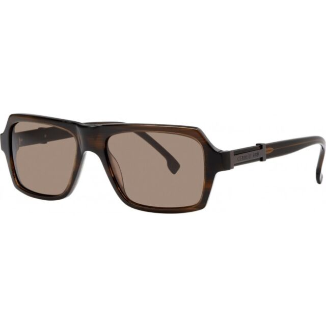 CERRUTI 1881 CE8053 00 MEN/'S GREY LENS RECTANGULAR SUNGLASSES WITH BLACK FRAMES