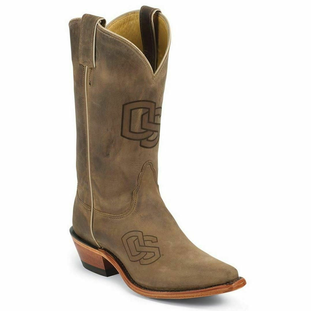 Nocona LDOS11 Womens Oregon State Brown Cowhide Branded College Boots