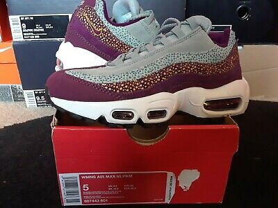 Womens Nike Air Max 95 PRM Premium Bordeaux Yellow Ochre wmns 1 90 97 807443 601 | eBay