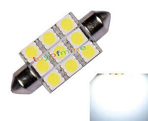 Car-39mm-White-9-SMD-5050-LED-Festoon-Dome-Light-Lamp-Bulb-DC-12V-NEW