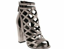4f109f866599  110 Guess Women s Eriel High Heels Pewter Cage Sandals Size 9