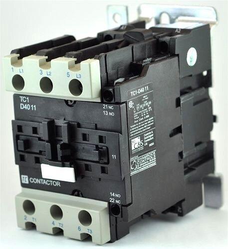NON-REVERSING 40 AMPS TC1-D4011-G6 120//60 VAC 1NO//1NC SHAMROCK CONTACTOR