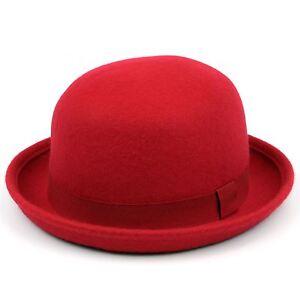 Bowler Hat Derby Hawkins Wool Felt Blue Pink Red Bombin  c2e916ad109e