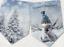 Silver Blue Snowman Christmas Bunting//Banner /& Ribbon
