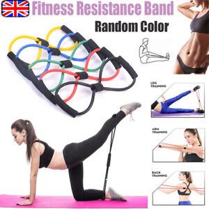 8 shaped fitness rope tube resistance elastic yoga gym