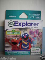 Leap Frog Explorer Sesame Street 123 Elmo Game Leap Pad Ultra Leapster Gs