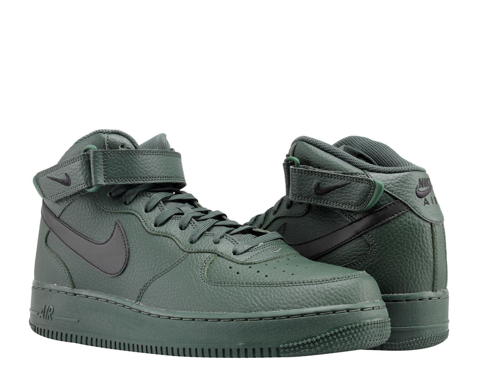 NEW IN BOX NIKE AIR FORCE FORCE FORCE 1 MID '07 verde   nero SWOOSH uomo Dimensione 8.5 scarpe afb6e0