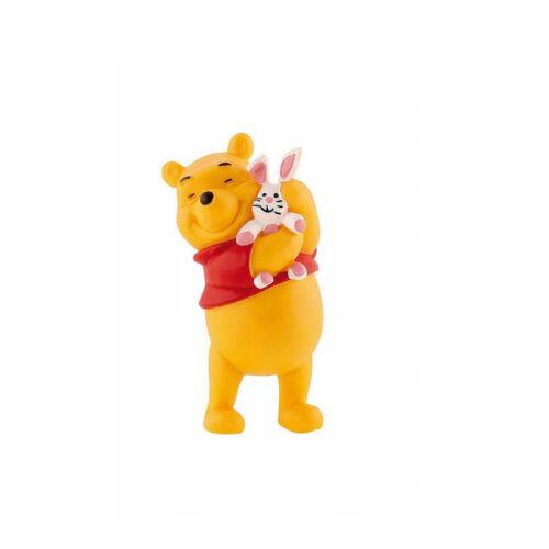 """Bl-12328 Nuovo con banderuole-NEW with tag!!! /""""Winnie the Pooh con coniglietti/"""" #bullyland"""