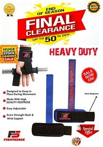 Wrist-Wraps-WEIGHT-LIFTING-Bar-STRAPS-for-POWER-LIFTING-CROSSFIT-Gym-Bodybuildin
