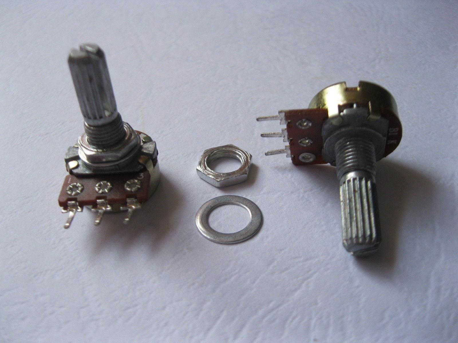 100 piezas ollas Potenciómetro Eje de Split B1K 20mm 3 3 3 Pin  en linea