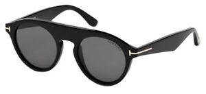 3b4a5400c7 Tom Ford CHRISTOPHER-02 FT 0633 shiny black grey (01A A) Sunglasses ...