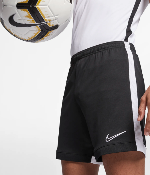 Nike Shorts Mens Small Black Dri Fit Quick Dry Academy Soccer Training 8  Inch