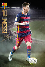 LIONEL MESSI 2016 ACTION - BARCELONA POSTER - 24 x 36 FOOTBALL SOCCER FC 34119