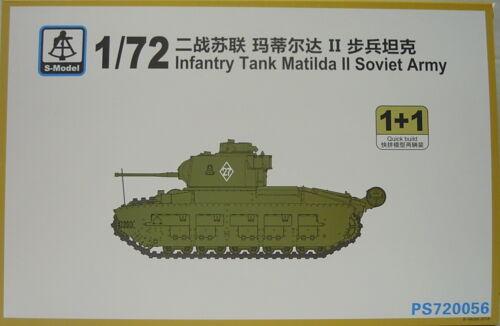2 Kits 1//72 Infanterie Panzer Matilda II Soviet Army Plastik NEU, S-Model