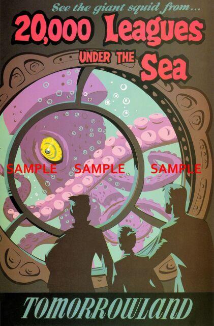 "Poster  T2 Vintage Disney It/'s a Small World Fantasyland 1966 8.5/"" x 11/"""