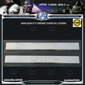 VOLKSWAGEN-CADDY-CHROME-DOOR-SILL-COVERS-HIGH-QUALITY-5Y-GUARANTEE-2004-2009-NEW