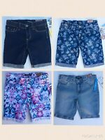 Girl's Tractor Denim Shorts Sizes 7 And 14 Stretch Fabric Adjustable Waist