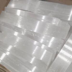 Natural-Selenite-Logs-Rough-Crystal-Wands-034-XL-Bars-10-Lbs-BULK-wholesale-LOT