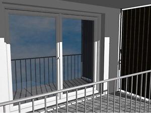 Balkon Sichtschutz Klemmbar Mit Manuellem Kettenantrieb Stoff Dralon