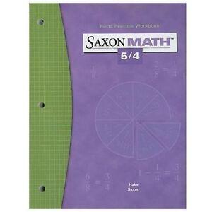 Saxon Math 5/4: Fact Practice Workbook | eBay