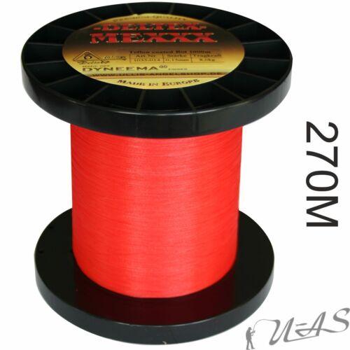 Deltex Mexxx Rot 270M Dyneema Geflochtene Angelschnur Teflon beschichtet Sha