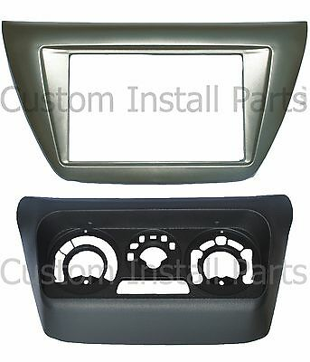 Mitsubishi Lancer 2002-2007 Install Double 2 Din Dash Kit w/ AC Relocation Kit