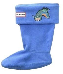 Hunter Original Boot Sock Kids Sheepy cuff fleece Shoe Liner KAS4047AEA BLK