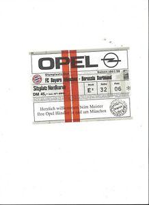 FC Bayern München-BVB Borussia Dortmund, 09.05.1998, biglietto da collezione, 97/98