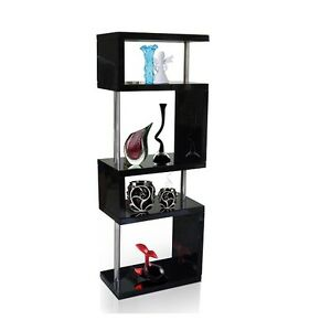 Image Is Loading Miami Slim Shelving Unit In Black High Gloss