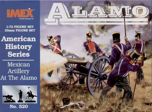 Mexican Artillery At The Alamo World History Series Figure Plastic Kit 1:72 IMEX