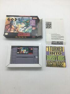Gods-The-Bitmap-Brothers-SNES-Super-Nintendo-Near-CIB-Box-cart-1992-RARE