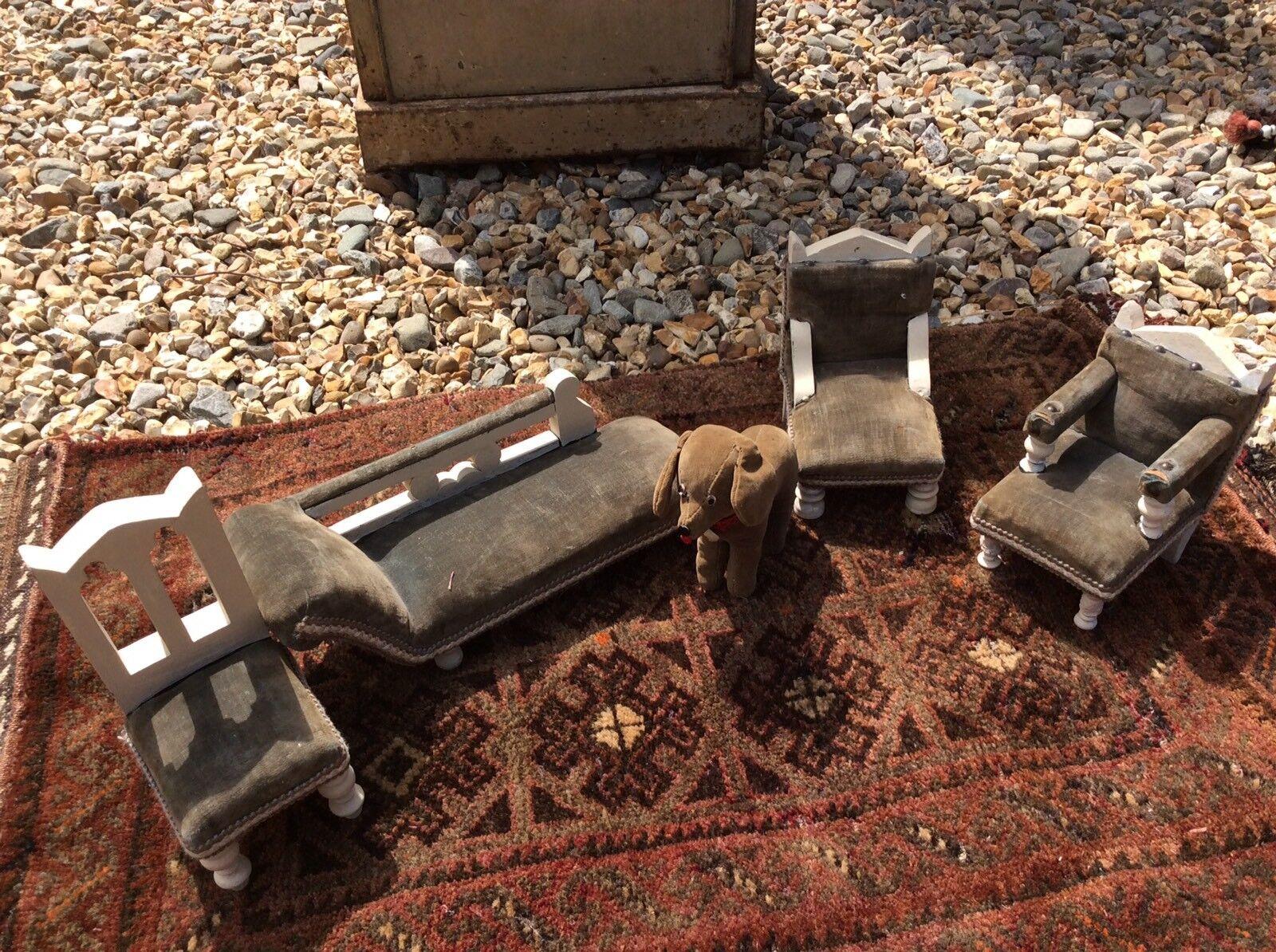 Vintage Scale Dolls House Furniture Apprentice Salesman Antique Chair Chaise Min