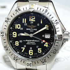BREITLING SUPER OCEAN COLT A17040 AUTOMATIC BLACK DIAL 100%AUTHENTIC CF4892