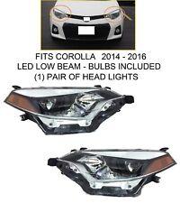 Pair Led Headlights For Fits 2014 2016 Toyota Corolla Ce L Le Le Eco S Se