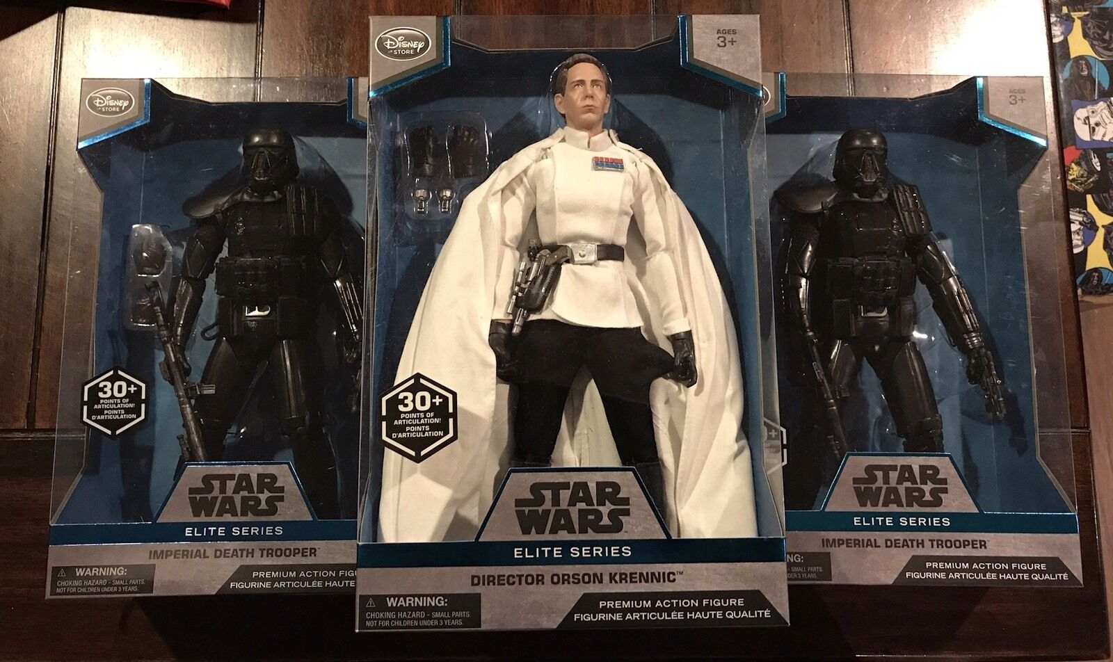 Star Wars Elite Series Premium 10  Orson Krennic & 2 Death Troopers Lot